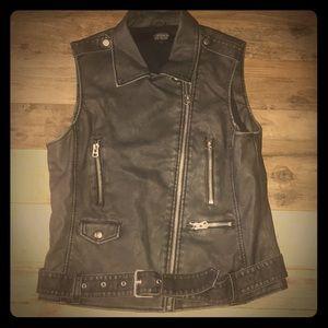 Topshop Leather Vest Sz 10